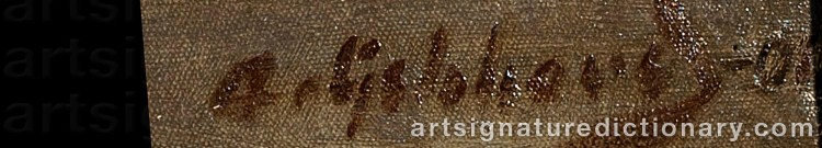 Signature by Albert GEBHARD