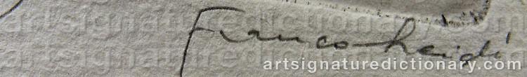 Signature by Franco LEIDI