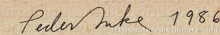 Signature by Peder DUKE
