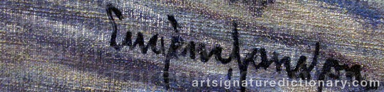 Signature by Eugène JANSSON