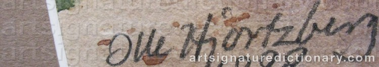 Signature by Olle HJORTZBERG