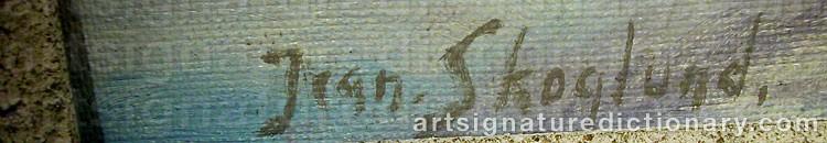 Forged signature of Jean SKOGLUND