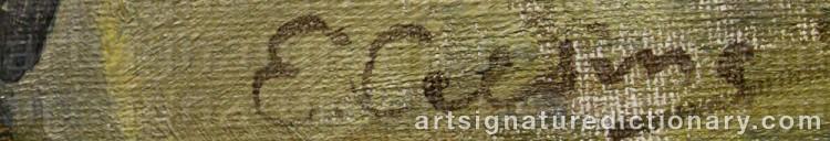 Signature by Elsa CELSING-BACKLUND
