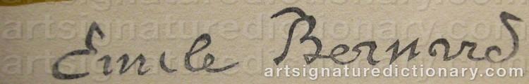 Signature by Emile Henri BERNARD