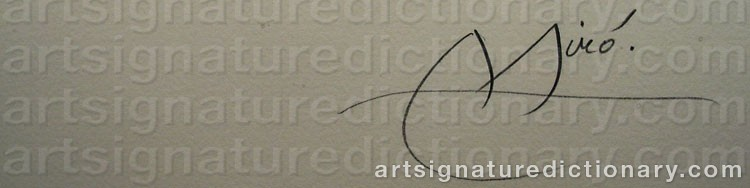 Signature by Joan MIRO