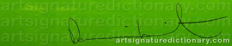 Signature by Damien HIRST