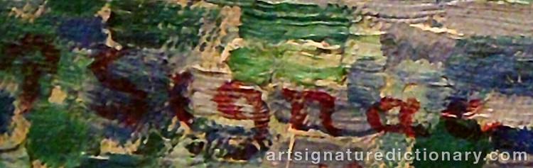 Signature by Paul SIGNAC