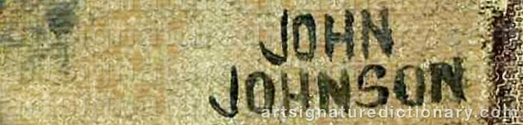 Signature by John Gunnar 'Haavs-Johnson' JOHNSON