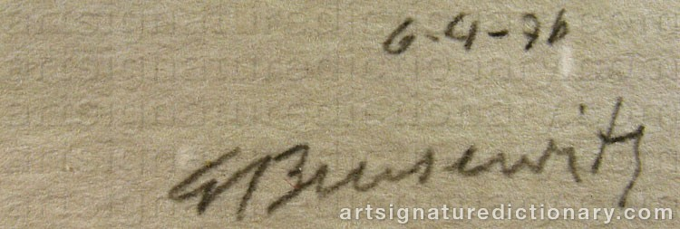 Forged signature of Gunnar BRUSEWITZ