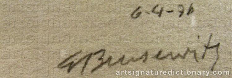 Forged signature of Gunnar BRUSEWITZ