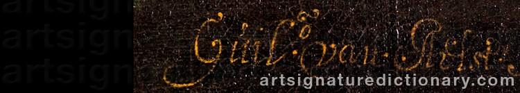 Signature by Willem Van AELST
