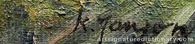 Signature by Knut JANSON