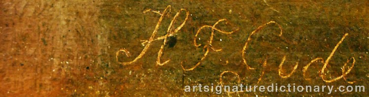 Forged signature of Hans Fredrik GUDE