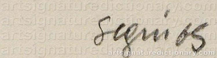 Signature by Antonio SEGUI