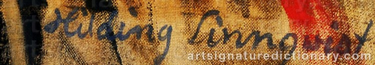 Signature by Hilding LINNQVIST
