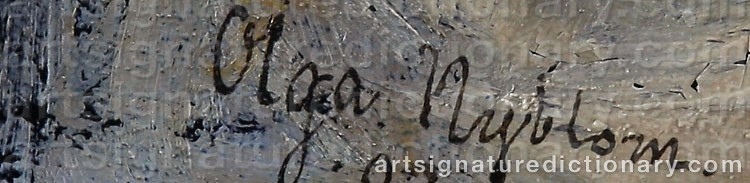 Signature by Olga NYBLOM