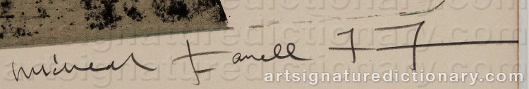 Signature by Michael FARRELL