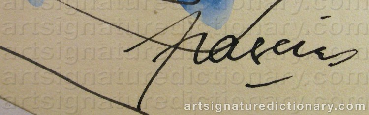 Forged signature of Jules PASCIN