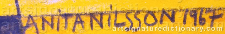 Signature by Anita NILSSON