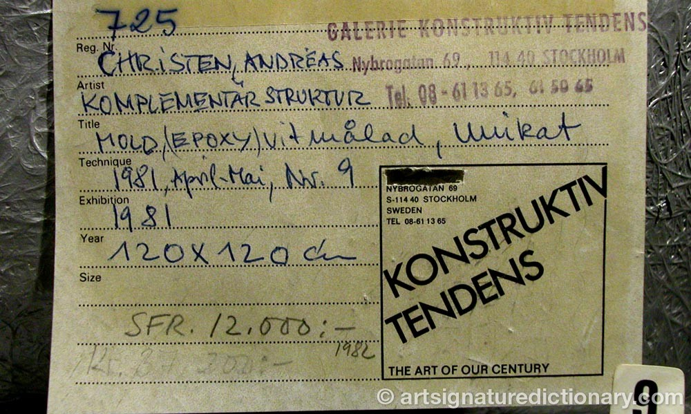 Signature by Andreas CHRISTEN