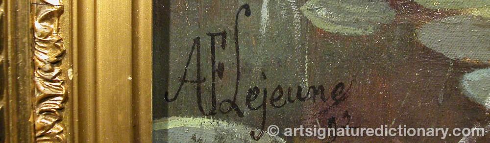 Signature by Adolphe Frédérique LEJEUNE