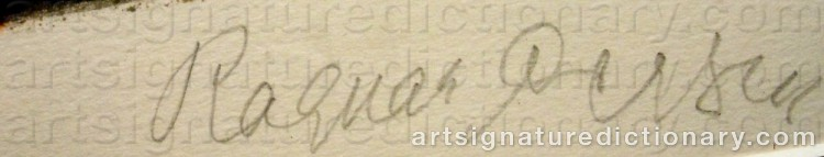Signature by Ragnar PERSON