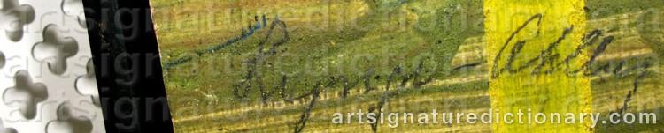 Signature by Einar LYNGE-AHLBERG