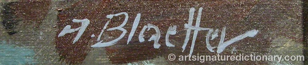 Signature by Albert BLAETTER