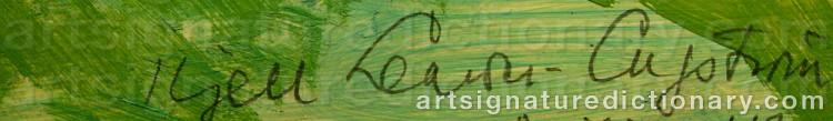 Signature by Kjell LEANDER-ENGSTRÖM