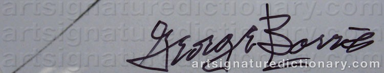 Signature by George BARRIS