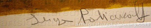 Signature by: POLIAKOFF, Serge
