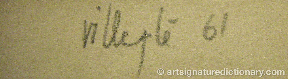 Signature by Jacques Henri VILLEGLÉ