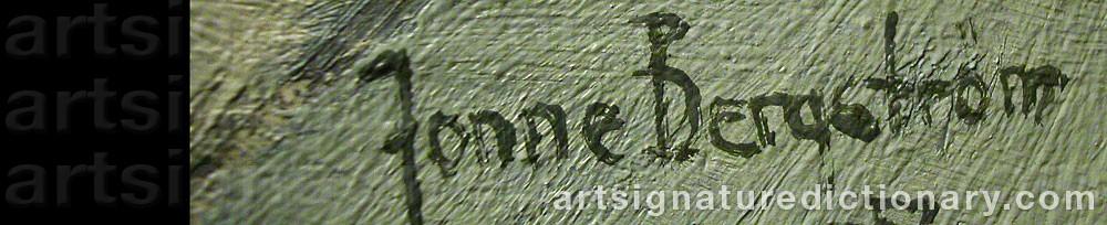 Signature by Jonne BERGSTRÖM