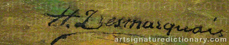 Signature by Charles Hippolyte DESMARQUAIS