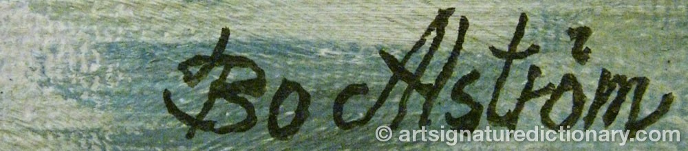 Signature by Bo ALSTRÖM