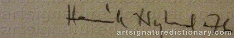 Signature by Henrik NYLUND