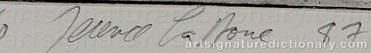Signature by Terence David La NOUE