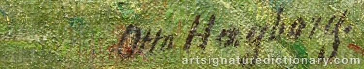 Signature by Otto HAGBORG