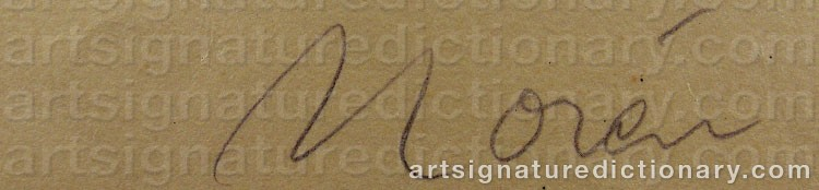 Signature by Bertil NORÉN