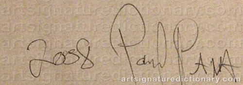Signature by: PAVA, Poul