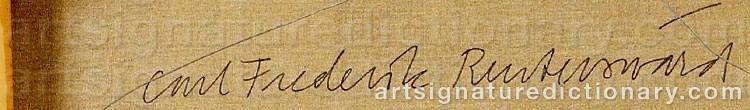 Signature by Carl Fredrik REUTERSWÄRD