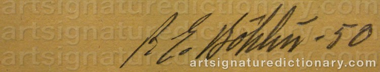 Signature by Per-Erik BÖKLIN