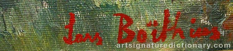 Forged signature of Lars BOETHIUS