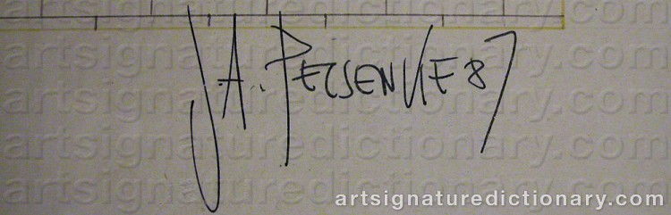 Signature by Joe A. PECSENKE