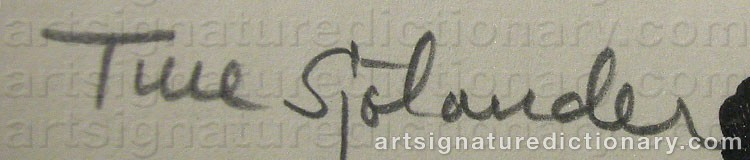 Signature by Ture SJÖLANDER