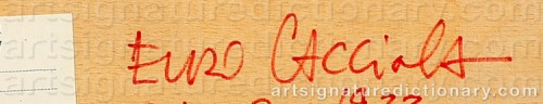 Signature by: CACCIOLA, Enzo