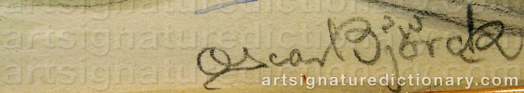 Signature by Oscar BJÖRCK