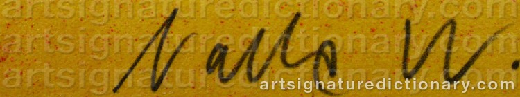 Signature by Nalle 'Nalle W.' WERNER