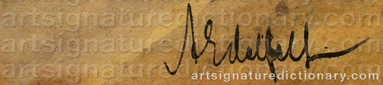 Signature by Albert EDELFELT