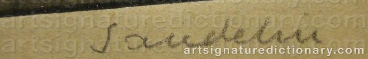 Signature by Börje SANDELIN
